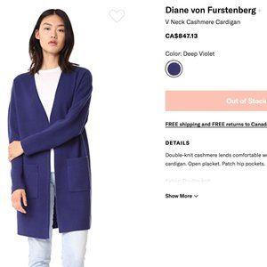 Diane Von Furstenberg Sweaters - Diane Von Furstenberg Cashmere Long Cardigan